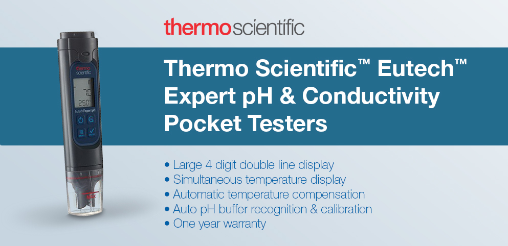 Thermo Scientific™ Eutech™ Expert pH & Conductivity Pocket Testers
