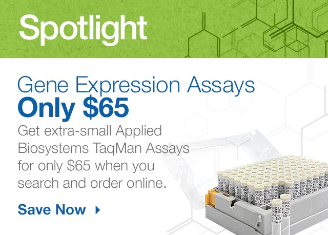 Save on Extra Small TaqMan Assays