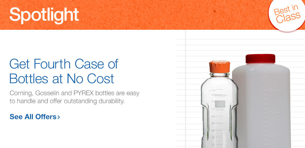 Buy 3, Get 1 on Cases of Corning Bottles