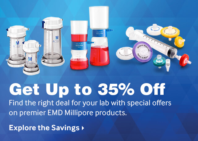 Save on EMD Millipore Products