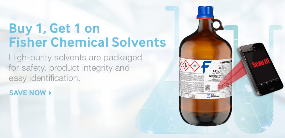 Buy 1, Get 1 on High-Purity Solvents