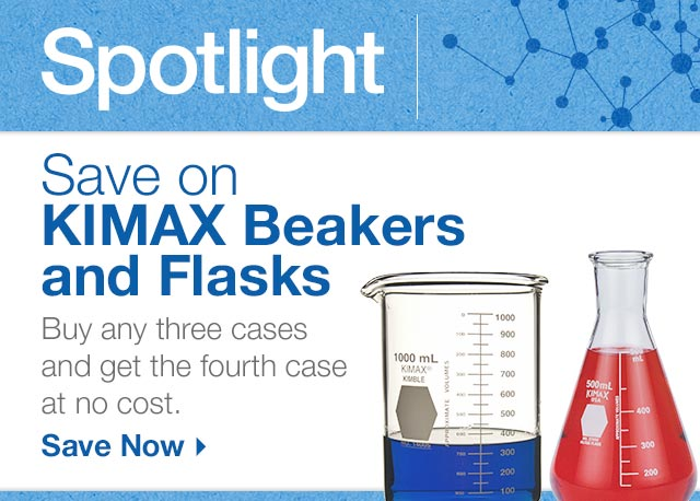 Save on KIMAX Beakers and Flasks