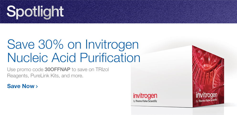 Save 30% on Invitrogen Purification