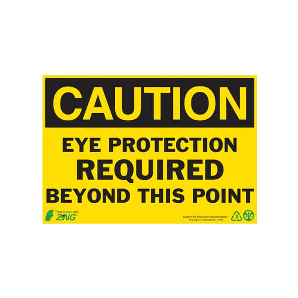 ZING Enterprises Eco Safety Sign