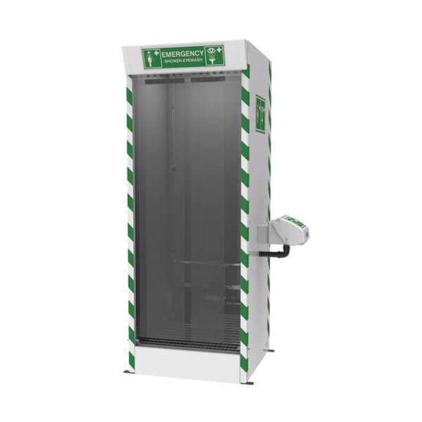 Justrite™ Emergency Cubicle Shower with Strip Screens