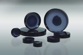 Qorpak™ Black Phenolic 0.030 Solid Polyethylene Lined Caps