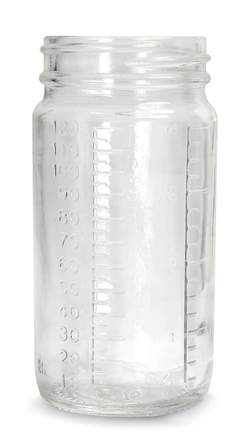 Qorpak™ Graduated Medium Round Bottle Beakers™ without Caps