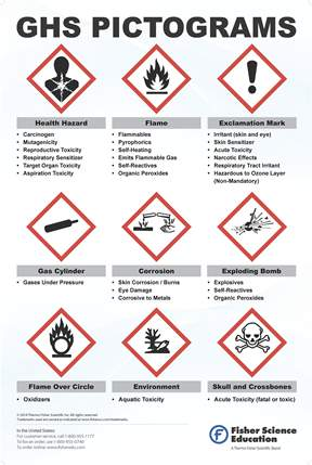 Fisherbrand Globally Harmonized System Warning Pictogram Poster ...
