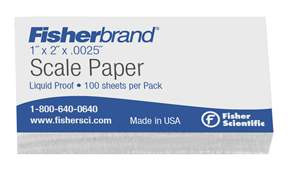 Fisherbrand™Liquid Proof Scale Papers, 0.0025 in. Thick