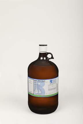 Water, HPLC Grade, ACS Reagent Grade, for UV Spec and LC, Ricca Chemical