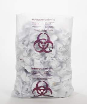 Fisherbrand&trade;&nbsp;Polyethylene Biohazard Autoclave Bags without Sterilization Indicator&nbsp;<img src=