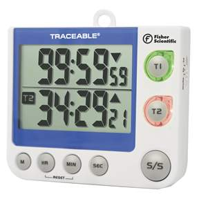 Fisher Scientific&trade;&nbsp;Traceable&trade; Flashing LED Big-Digit Dual Channel Timer&nbsp;<img src=