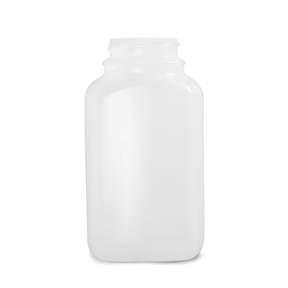 Qorpak™ Natural HDPE Wide Mouth Oblong Bottles — Without Caps