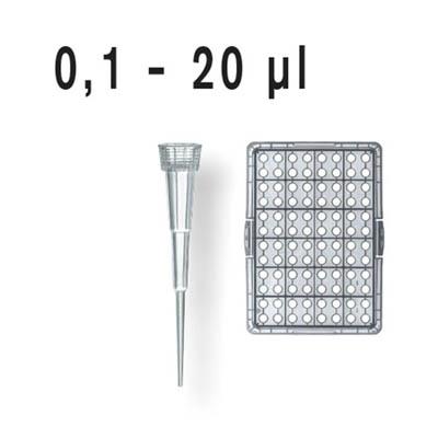 BRAND™nano-cap™ Pipet Tips Nano-cap tips; Tips; Bulk; 0.1-20μL; 2 bags of 1000 tips; 2000 tips BRAND™nano-cap™ Pipet Tips