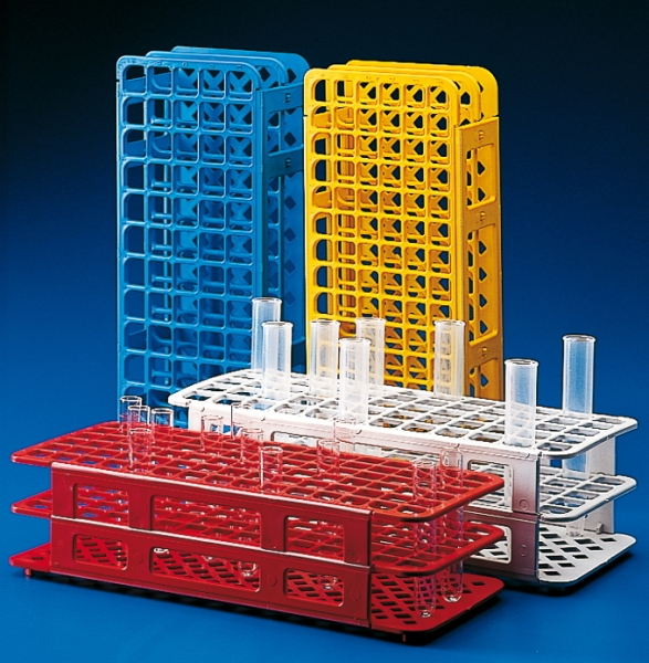 Kartell™ Plastilab™ Polypropylene Universal Test Tube Racks Holds 60 test tubes; Color: White; Diameter: 16mm; Quantity: 1 pack Kartell™ Plastilab™ Polypropylene Universal Test Tube Racks