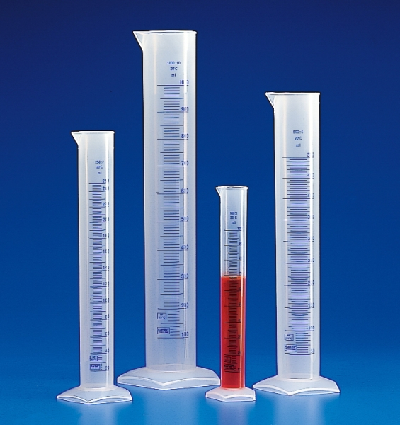 Kartell™Translucent Polypropylene Tall Form Measuring Cylinders with Blue Graduations Capacity: 2000mL Kartell™Translucent Polypropylene Tall Form Measuring Cylinders with Blue Graduations