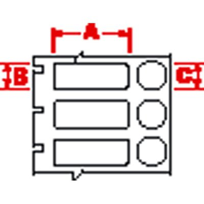 Brady™Polyester Thermal-Transfer Printable Labels Shape: Rectangle and Circle; Diameter: 15.24mm; Color: White; Finish: Matte Products