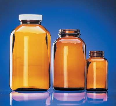 Fisherbrand™Custom Cleaned Amber Wide Mouth Packer Bottles Capacity: 32 oz. (950mL) Fisherbrand™Custom Cleaned Amber Wide Mouth Packer Bottles