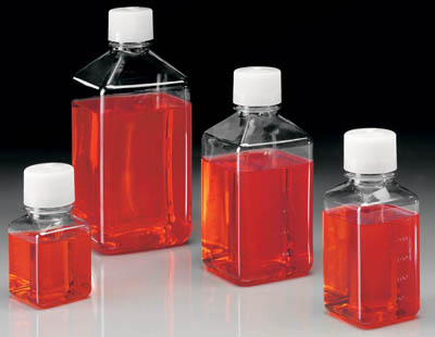 Thermo Scientific™Nalgene™ Square PET Media Bottles with Closure: Sterile, Shrink-Wrapped Trays  Thermo Scientific™Nalgene™ Square PET Media Bottles with Closure: Sterile, Shrink-Wrapped Trays