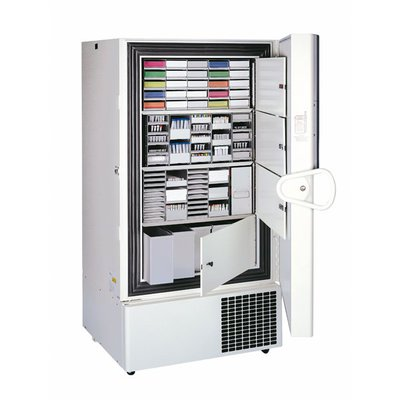 Thermo Scientific™ Ultracongeladores verticales de -86 °C Forma™ serie 900 Capacity: 28 cu. ft. (792.8L); Single door; Holds 600 boxes; 230V/50Hz; 12A; Painted galvaneel interior Thermo Scientific™ Ultracongeladores verticales de -86 °C Forma™ serie 900