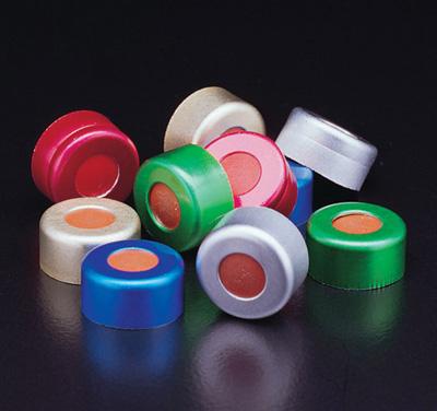 JG Finneran Associates™Crimp Caps Closure Color: Silver; Size: 11mm; Material: PTFE JG Finneran Associates™Crimp Caps