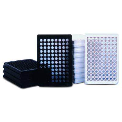 Thermo Scientific™Nunc™ 384-Well Optical Bottom Plates 384 Well Optical Bottom Plates, Polystyrene Polymer Base, Cell Culture Treated, White, with lid, Sterile Products