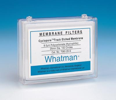CytivaCyclopore™ Polycarbonat-Membranen Pore size: 0.4μm; Dia.: 47mm; Translucent CytivaCyclopore™ Polycarbonat-Membranen