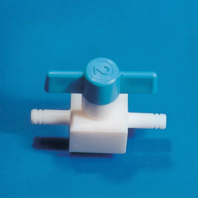Fisherbrand™ PTFE Standard Straight Through Valve, bayonet fittings Arm Diameter: 10mm Fisherbrand™ PTFE Standard Straight Through Valve, bayonet fittings