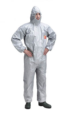 DuPont™Tychem 6000 F CHA5 Hooded Coverall Size: Small DuPont™Tychem 6000 F CHA5 Hooded Coverall