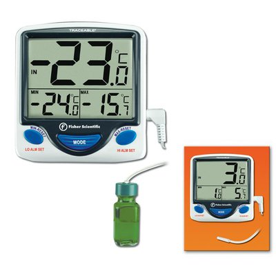 Fisherbrand™Jumbo Refrigerator/Freezer Thermometer With naked sensor Classroom Thermometers