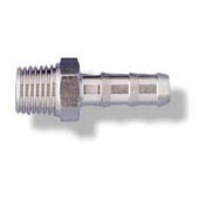 Cole-Parmer™Stainless Steel Barbed Fitting NPT Male Pipe Adapter 1/2 NPT(M) x 1/4 in. Tubing ID Cole-Parmer™Stainless Steel Barbed Fitting NPT Male Pipe Adapter