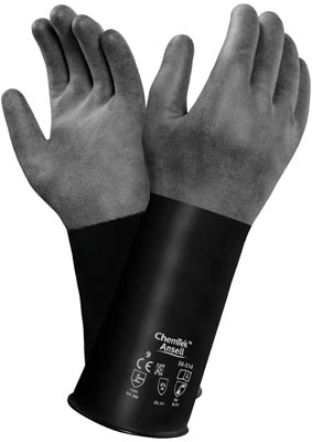 Ansell™ ChemTek™ 38-628 Series Black Butyl/Viton Immersion Gloves Size: 9 Products