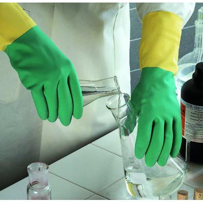 Ansell Edmont™Bi-Colour™ 87-900 Series Natural Rubber Latex Immersion Gloves Size: 10 Products