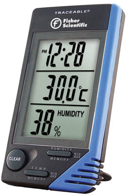Aaa Battery Promo Code >> Fisherbrand™ Traceable™ Thermometer/Clock/Humidity Monitor ...