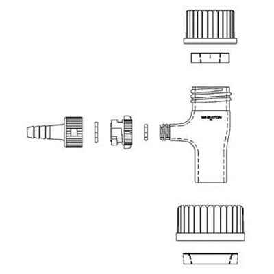 Wheaton™Filtration Adapter Assembly Size: 47mm Wheaton™Filtration Adapter Assembly