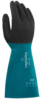 Ansell™ AlphaTec™ 58-535B Series Nitrile Immersion Gloves 14 in. (35.5cm) long; Size: 10 Products