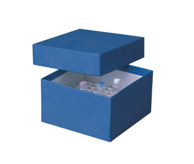 Fisherbrand™ Criocajas de cartón, 133 mm Color: Azul; dimensiones (L x An x Al): 133 x 133 x 50 mm Fisherbrand™ Criocajas de cartón, 133 mm