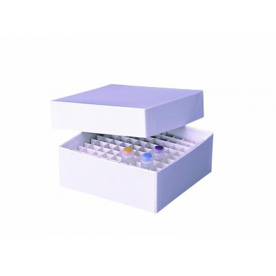 Fisherbrand™ Cardboard Cryobox Inserts, 136mm Grid: 8 x 8; Height: 30mm; Width: 136mm Fisherbrand™ Cardboard Cryobox Inserts, 136mm