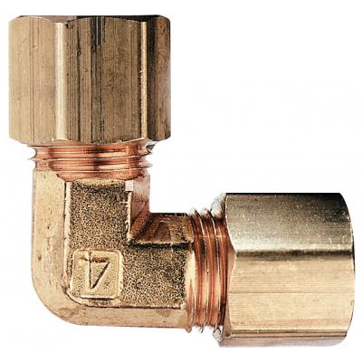 Cole-Parmer™ Brass Compression Elbow Union 1/8 in. Cole-Parmer™ Brass Compression Elbow Union