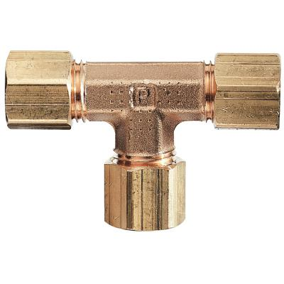 Cole-Parmer™ Brass Compression Tee Connector 1/4 in. Cole-Parmer™ Brass Compression Tee Connector