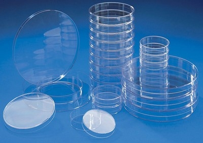 Fisherbrand™ Polystyrene Petri Dishes, Sterile 3 Vents; Height: 16.2mm Fisherbrand™ Polystyrene Petri Dishes, Sterile