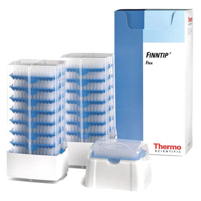 Thermo Scientific™ Finntip™ Flex™ Pipette Tips Finntip™ Flex™ Refill starter kit; Volume: 50 to 1000μL; Color code: Blue; Sterility: Non-sterile; Unit Size: 1× Rack of 96 tips and 16× reload inserts of 96 tips (1632 tips in total) Thermo Scientific™ Finntip™ Flex™ Pipette Tips