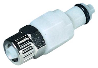 CPC™Connettore di accoppiamento con montaggio a pannello Delrin in acetale bianco Fits Tubing: 9.6mm O.D.; Connection Type: Coupling Connector CPC™Connettore di accoppiamento con montaggio a pannello Delrin in acetale bianco