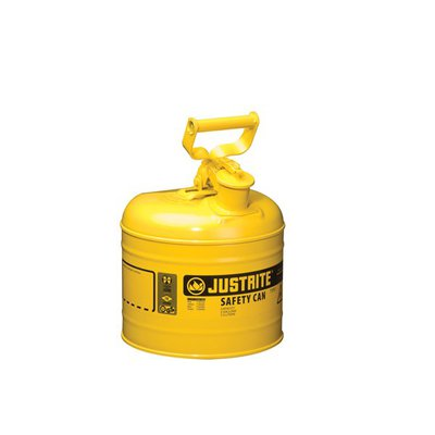 Justrite™ Type I Steel Safety Cans Yellow; 2 gal. (7.6L) Justrite™ Type I Steel Safety Cans