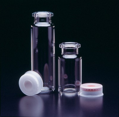 JG Finneran Associates™ Borosilicate Glass Headspace Vials Capacity: 6mL; Size: 22x38mm; Closure: Beveled Edge Crimp JG Finneran Associates™ Borosilicate Glass Headspace Vials
