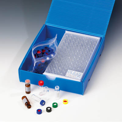 Fisherbrand™ Vial Kit 9mm short thread, glass, Clear, 1,5mL, PP Screw Cap, centre hole, Silicone/PTFE septum patched , 1.0mm thickness, 45° shore A Fisherbrand™ Vial Kit 9mm short thread, glass, Clear, 1,5mL, PP Screw Cap, centre hole, Silicone/PTFE septum