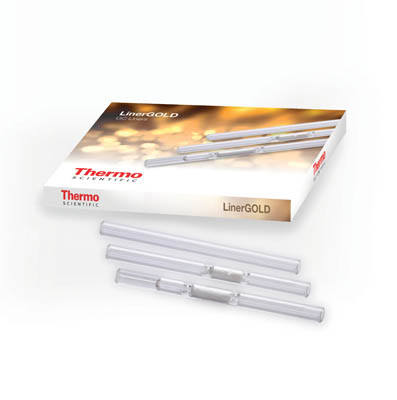Thermo Scientific™LinerGOLD™ GC Liners Split/splitless liner with double taper; 4.0 x 6.3 x 78.5mm; 5/pk. Thermo Scientific™LinerGOLD™ GC Liners