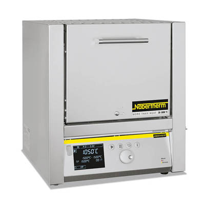 Nabertherm Muffle Furnaces with Flap Door Weight: 40kg (132.2 lb.); Capacity: 15L Nabertherm Muffle Furnaces with Flap Door
