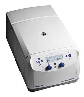 Eppendorf™Modell 5430R Mikrozentrifugen Modell 5430R (gekühlt); Knopfregler, mit 30x1.5/2.0ml aerodichtem Festwinkelrotor QL, 230 V, 60 Hz Eppendorf™Modell 5430R Mikrozentrifugen