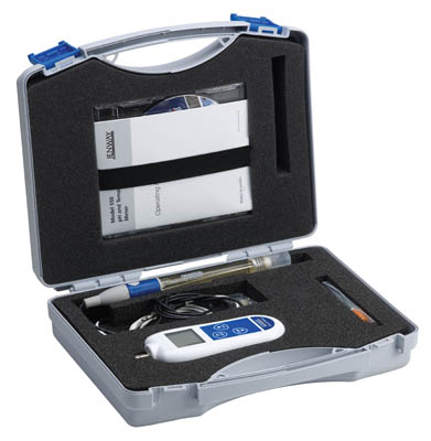 Jenway™ 550 portable pH meter supplied in carry case with epoxy combination pH electrode, ATC probe and batteries  Portable pH Meters